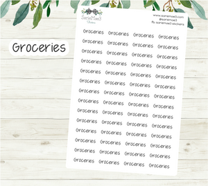 Groceries Planner Stickers (JenPlans)