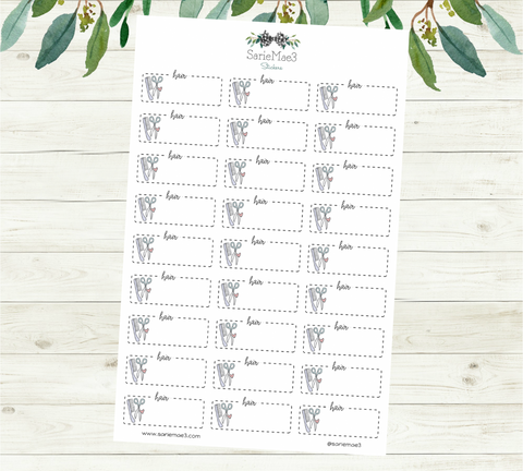 Hair Appointment Planner Stickers