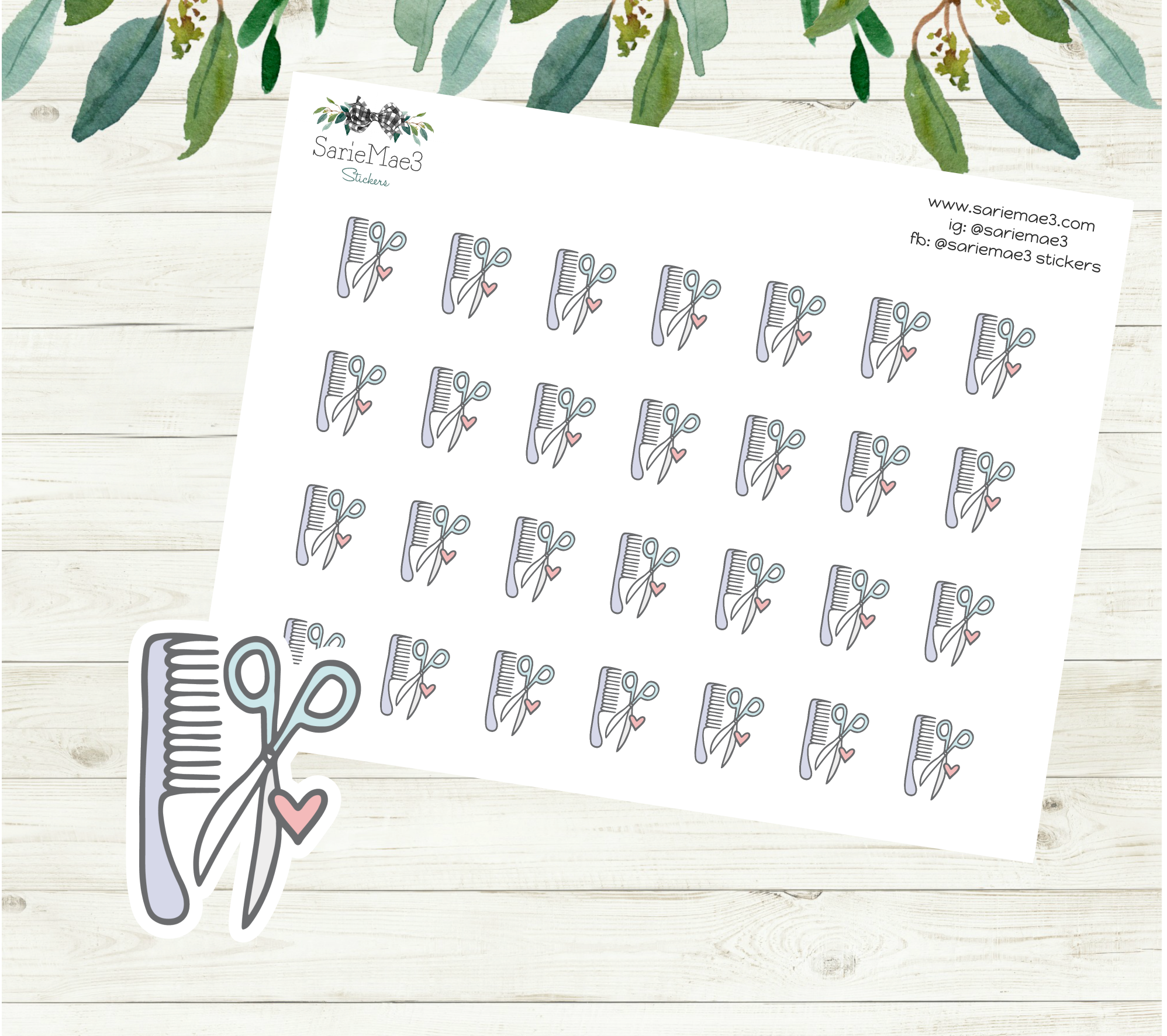 Haircut Planner Stickers