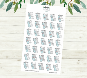 Hydrate Tracker Planner Stickers