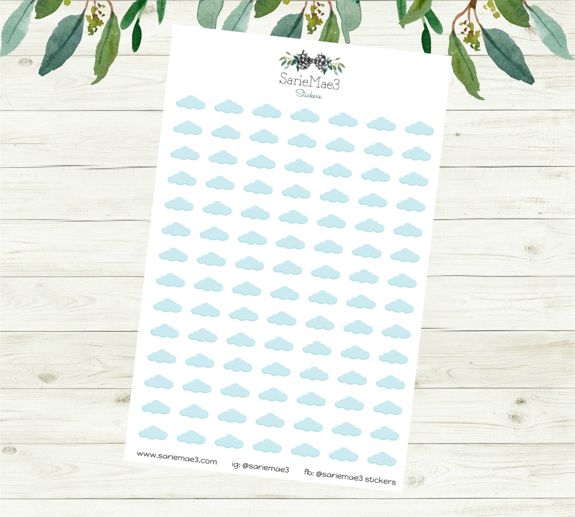 Cloudy Weather Planner Stickers
