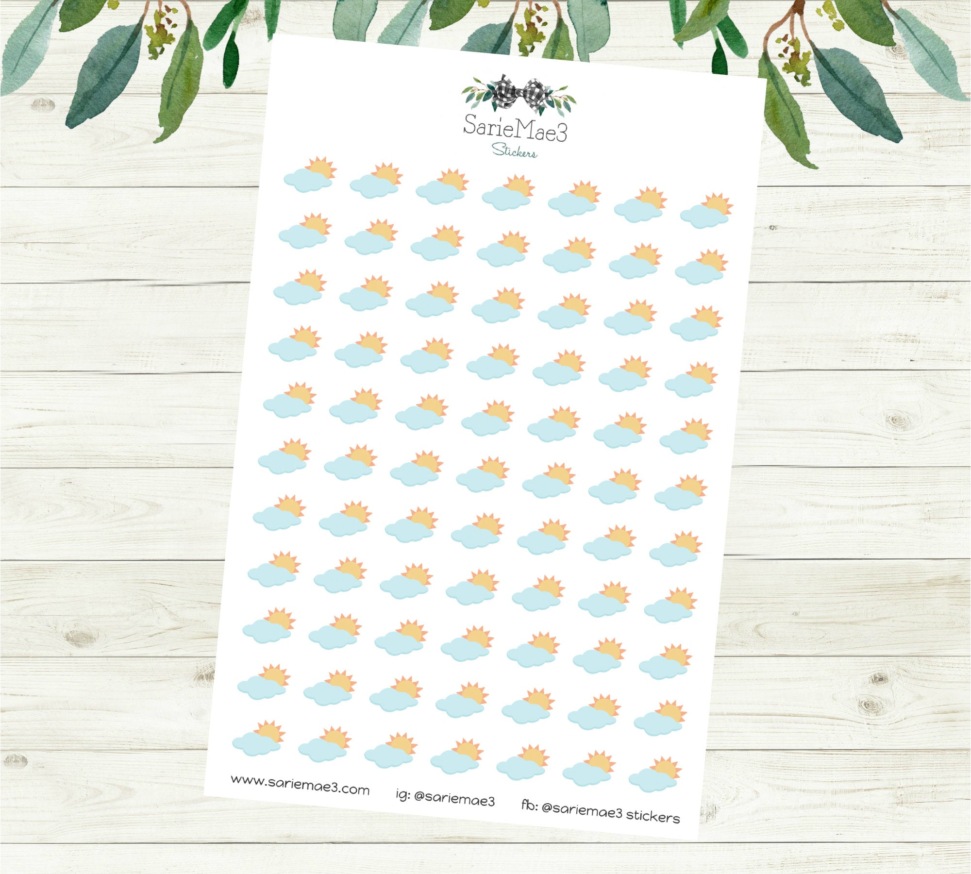 Partly Sunny Weather Stickers