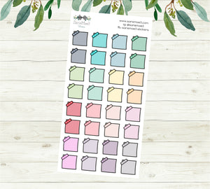 Post It Notes Planner Stickers (Small)