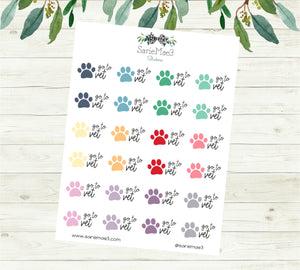 Go To Vet Planner Stickers (Mini)
