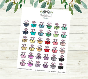 Mini Shipping Boxes Planner Stickers