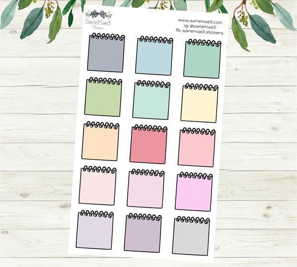 Notebook Paper Planner Stickers (Large)