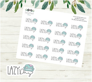 Lazy Day Planner Stickers