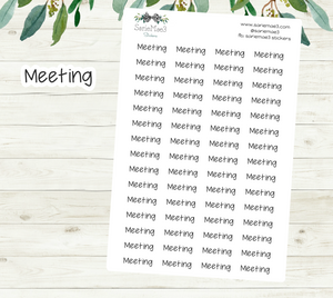 Meeting Planner Stickers (JenPlans)