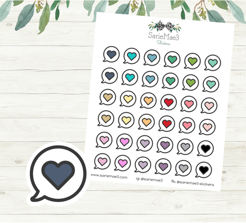 Mini Chat Bubble Planner Stickers