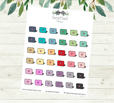 Mini Laptop Planner Stickers