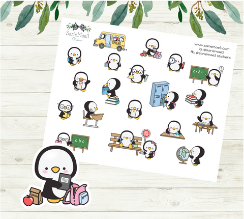 School Sampler Planner Stickers