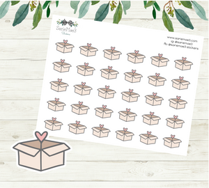 Shipping Boxes Planner Stickers
