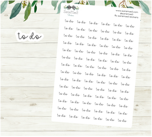 To Do Planner Stickers (Hand Lettered Script)