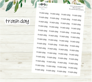 Trash Day Planner Stickers (JenPlans)