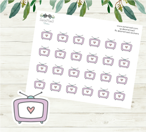 Television TV Planner Stickers