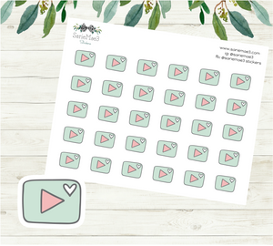 YouTube Planner Stickers