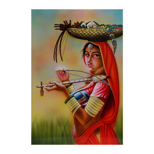 "Nirmal Paintings Ektara 17""x11"" inch"