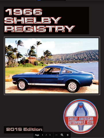 1966 Shelby Mustang Registry, 5th Edition (2019)