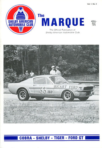 The Marque Vol 1 #3 (April - May 1976, 56 pages)