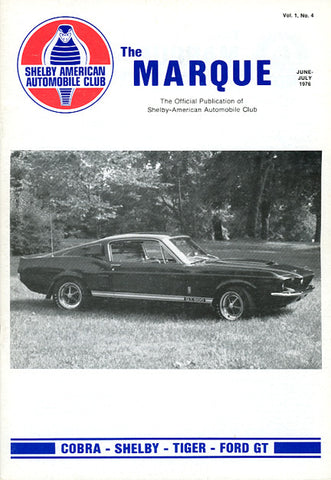 The Marque Vol 1 #4 (June - July 1976, 52 pages)