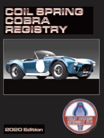 Coil Spring (427) CSX3000 series<br/>Cobra Registry, 5th Edition (2020)