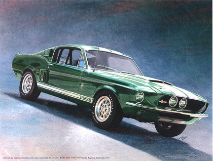 1967- Registry Illustration of a Highland Green GT350
