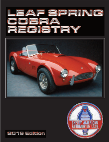 Leaf Spring Cobra Registry, 5th Edition (2019)