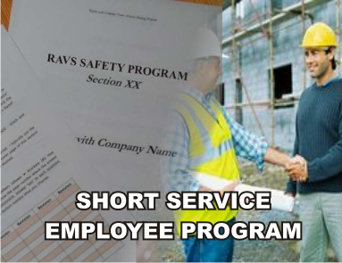 Short Service Employee Program - ISNetworld RAVS Section - US