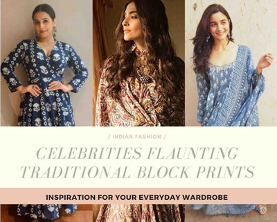 CELEBRITIES FLAUNTING THE TRADITIONAL BLOCK PRINTS