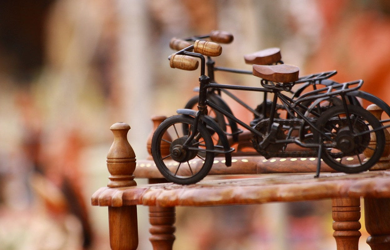 Sustainable Fashion - artisan - bicycle sculpture