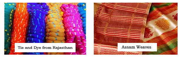 Sustainable Fashion - (1) Tie and Die From Rajasthan (2) Assam weaves