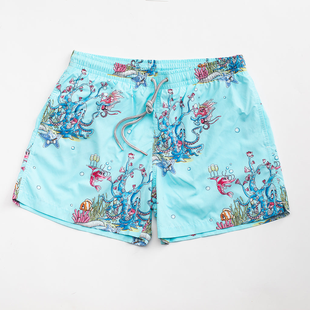 Cocktail Party Swim Shorts Crab and Little