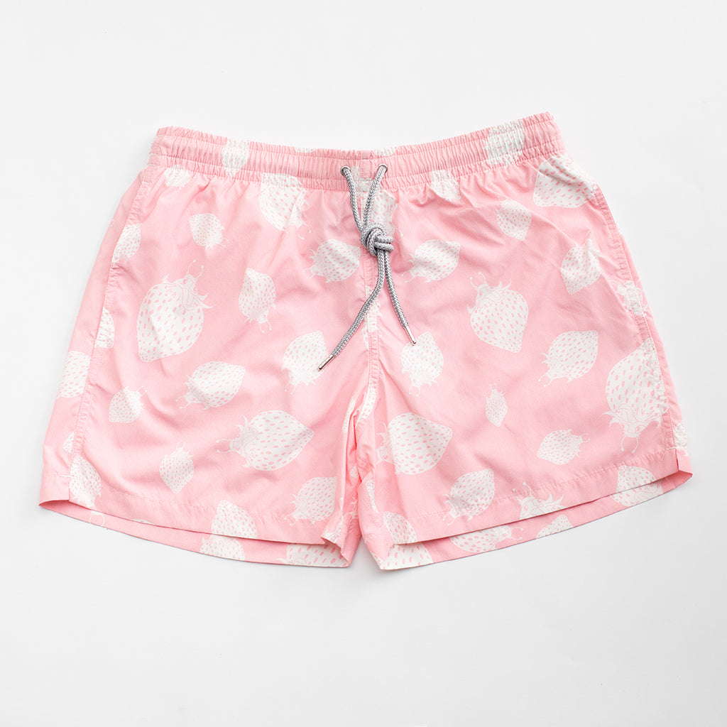 Crab and Little Pink Swim Shorts Strawberry