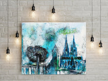 "Laden Sie das Bild in den Galerie-Viewer, Acrylbild Original -  ""Kölle""  40x50 cm"