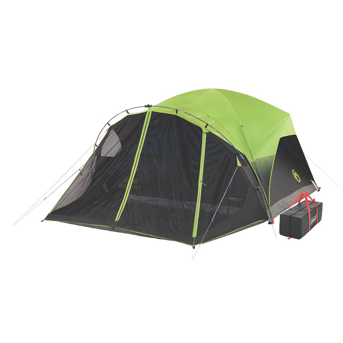 6-Person Darkroom Fast Pitch Dome Tent with Screen Room - River Rock Camping