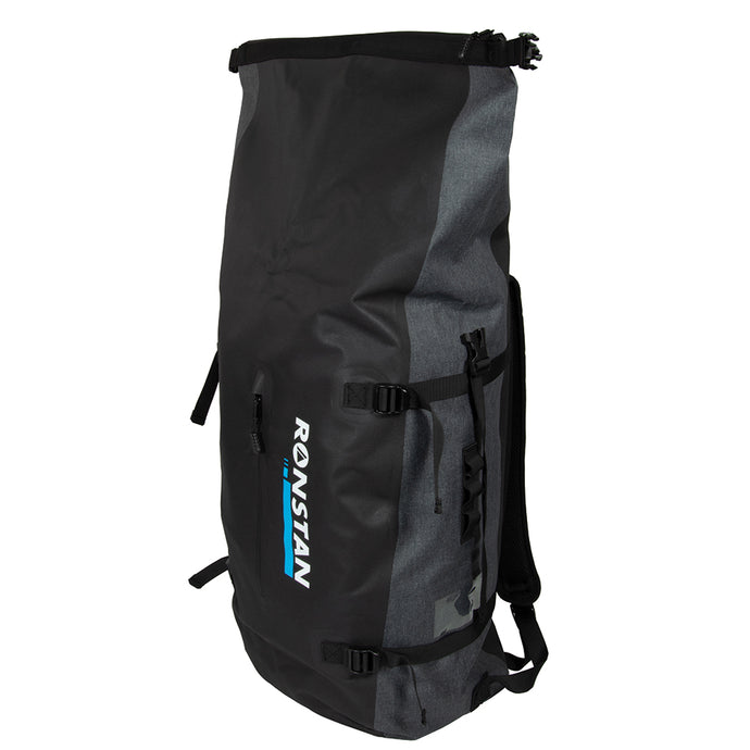 RONSTAN DRY ROLL TOP - 55L BACKPACK - BLACK & GREY - River Rock Camping
