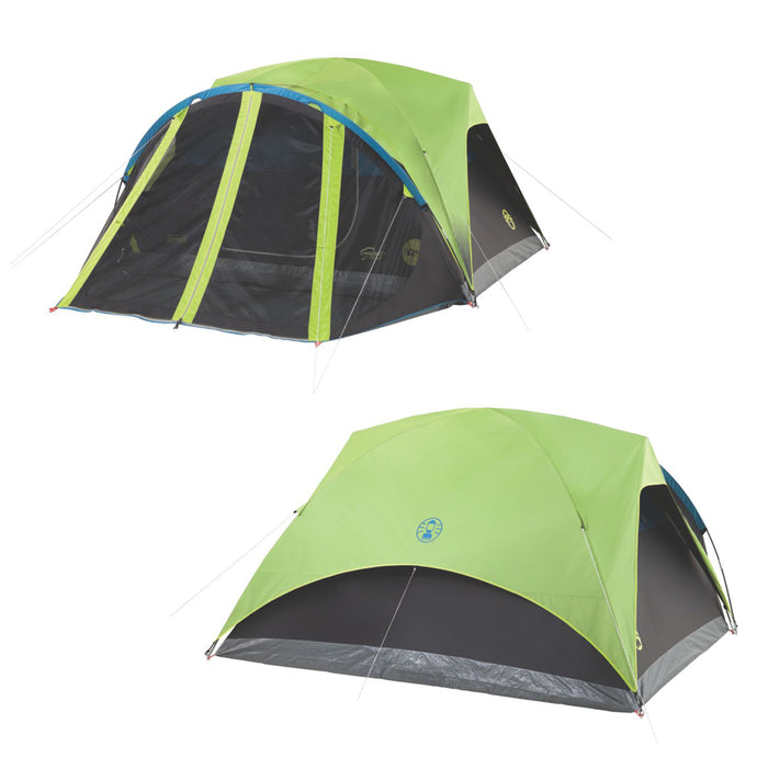 Carlsbad 4-Person Darkroom Tent with Screen Room - River Rock Camping