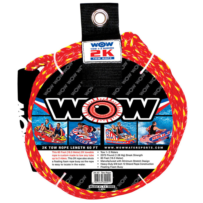 WOW WATERSPORTS 2K - 60' TOW ROPE - River Rock Camping