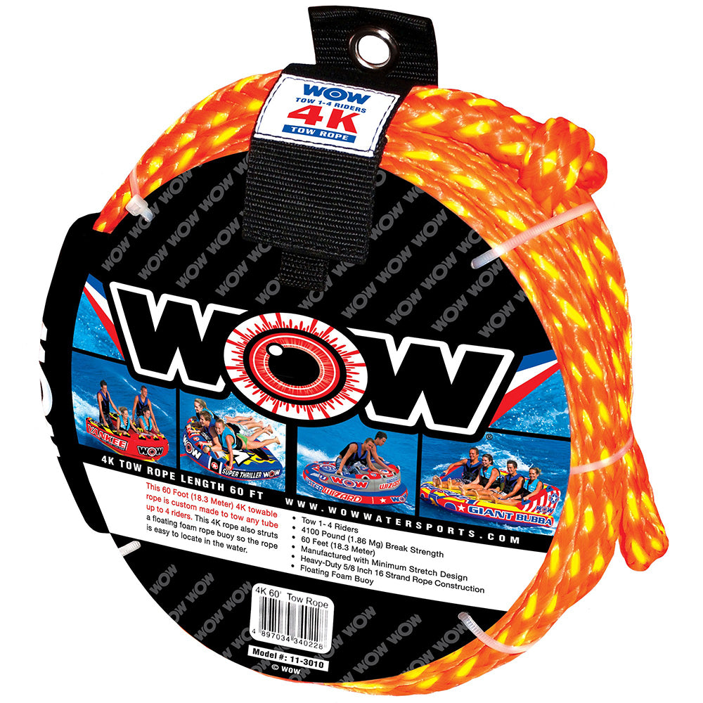 WOW WATERSPORTS 4K- 60' TOW ROPE - River Rock Camping