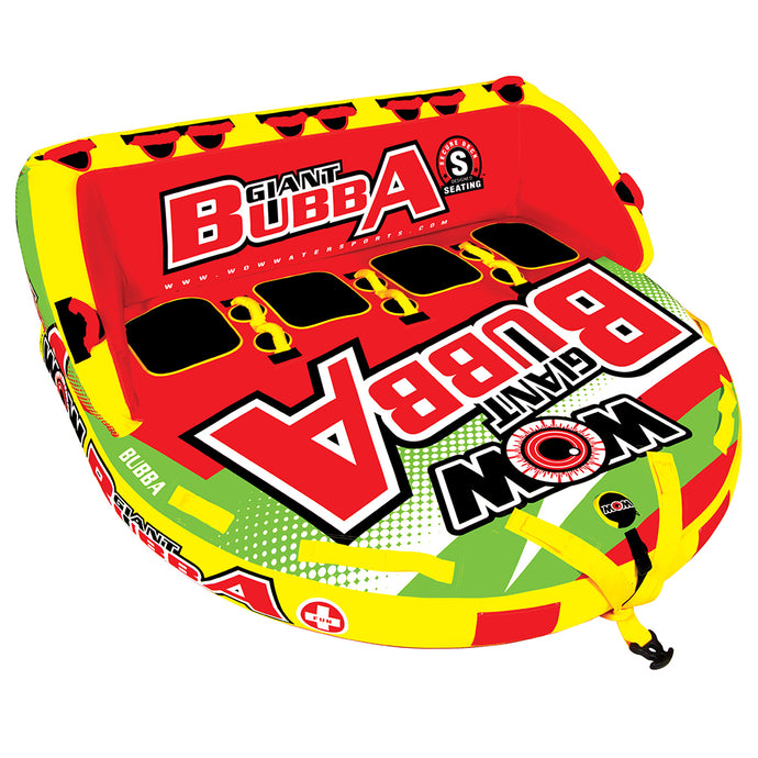 WOW WATERSPORTS GIANT BUBBA HI-VIS 4P TOWABLE - 4 PERSON - River Rock Camping