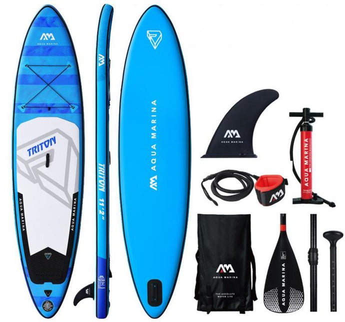 Aqua Marina 11'2 Triton Inflatable SUP In Stock Ready To Ship - River Rock Camping