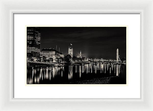 The River Thames at Night - Framed Print
