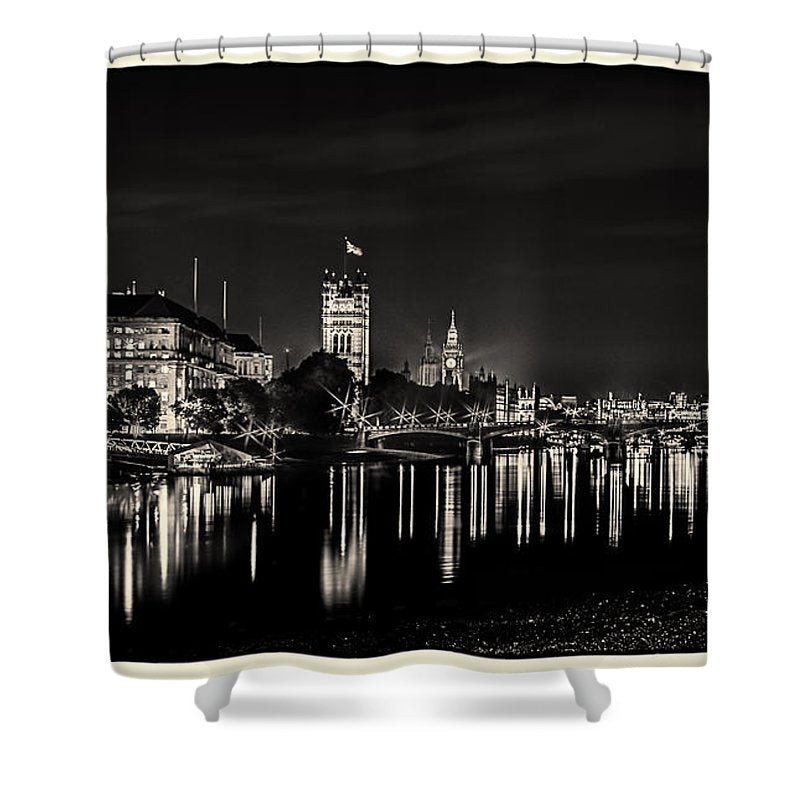 The River Thames at Night - Shower Curtain