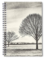 Load image into Gallery viewer, Two Trees in a field - Spiral Notebook