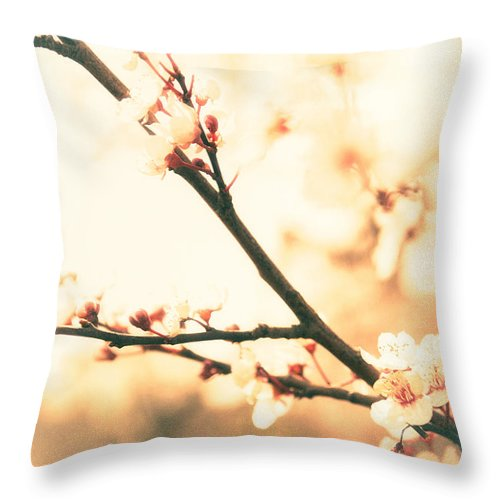 Blossoming Buds - Throw Pillow