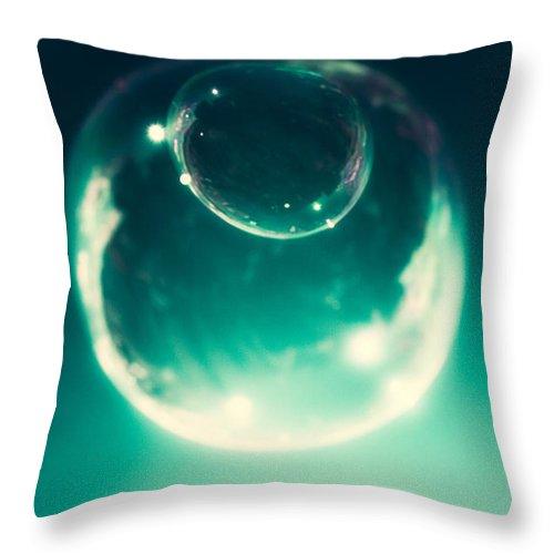 Bubbles within Bubbles - Throw Pillow