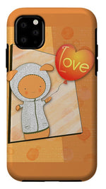 Load image into Gallery viewer, Cute Lots of Love Love You Cute Character holding a Love Balloons  - Phone Case