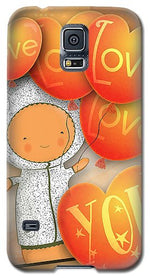 Load image into Gallery viewer, Cute Teddy with Lots of Love Balloons - Phone Case