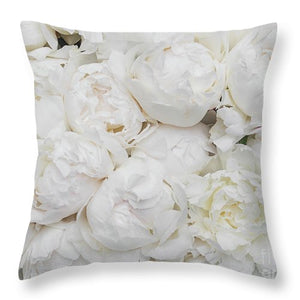 Full Peonies - Throw Pillow