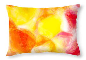 Fun Jelly Abstract Close Up  - Throw Pillow